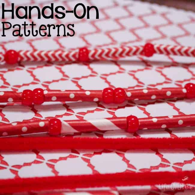 red white patterns square