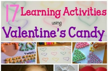 17 Valentine's Day candy activities for learning. A great way to use up the leftover candy!