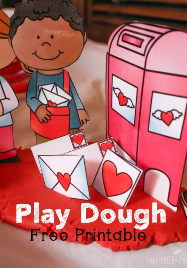 Play Dough Printable for Valentine's Day
