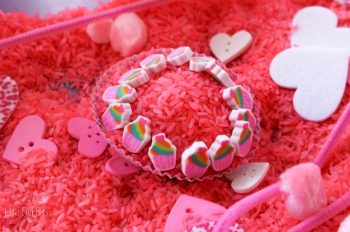 This pretty pink sensory bin for Valentine's Day is perfect for all pink loving kids! Plus, you can use it when you are reading 'Pinkalicious' too!