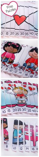 These free skip counting puzzles for Valentine's Day are such a fun way to practice counting by 2s and 5s.