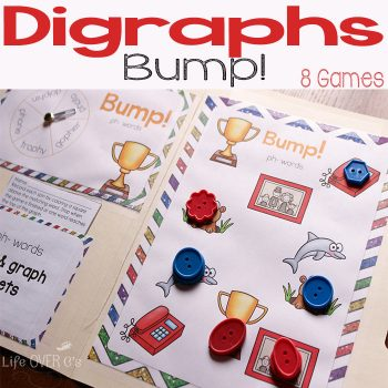 These printable digraph Bump! games are so much fun!!!