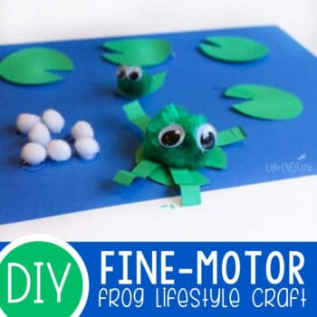 Fine-Motor Frog Life Cycle Craft Featured Square Image