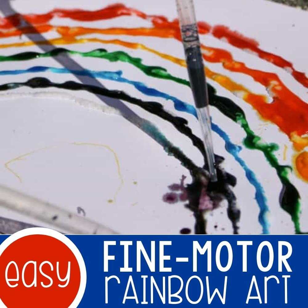 Fine-Motor Rainbow Art for Preschoolers