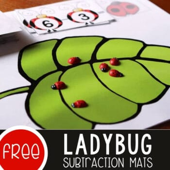 Free Ladybug Printable for Subtracting from 10 Featured Square Image