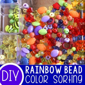 Rainbow Sorting with Beads Featured Square Image