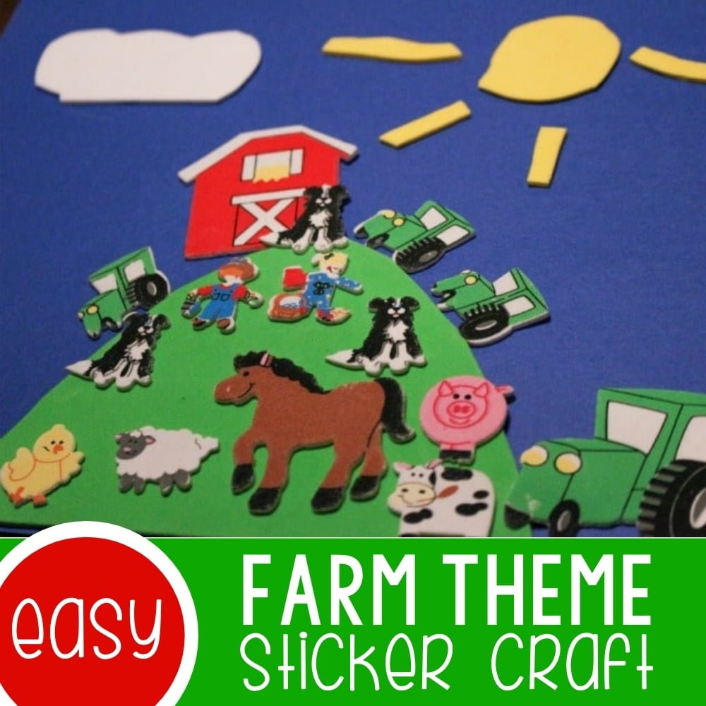 Sticker Collages Farm Animal Craft