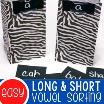 Vowel Sorting Activity for Long and Short Vowel Sounds Featured Square Image