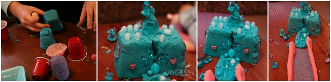Frozen play dough castle