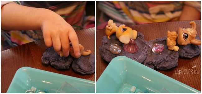 Creating with play dough