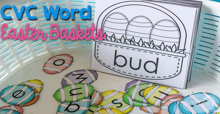 Practice building short vowel CVC words with this fun CVC Easter Baskets activity.