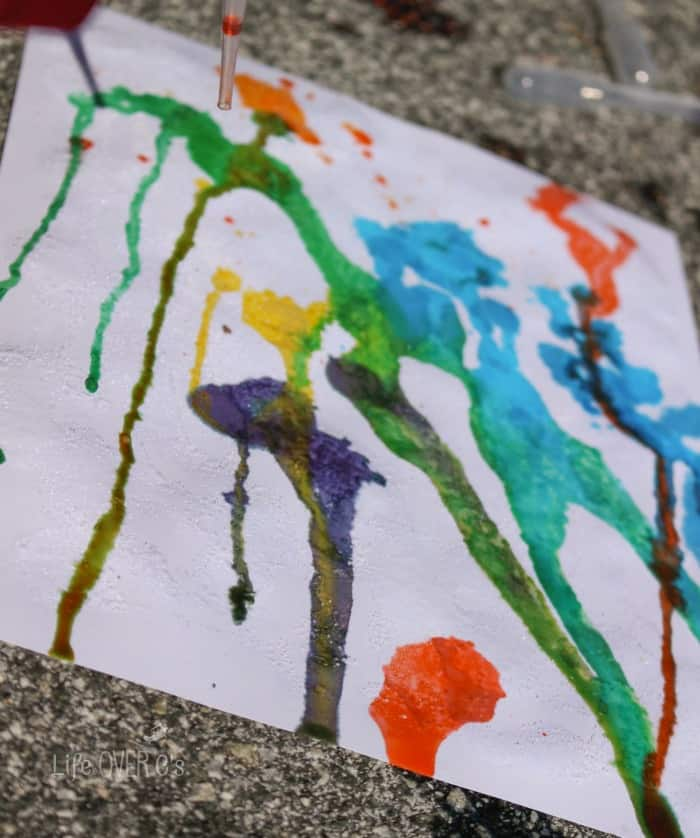 Create a masterpiece with your kids with this simple drip art painting process.