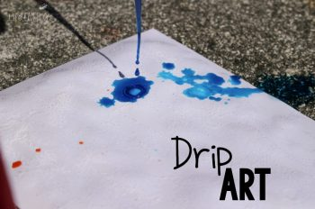 Create a masterpiece with your kids! These drip art paintings are so much fun you'll want to make your own!