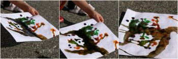 Color mixing is a great hands-on way to explore art!