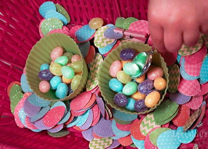 These low-prep Easter fine-motor activities can be prepared in less than 5 minutes!