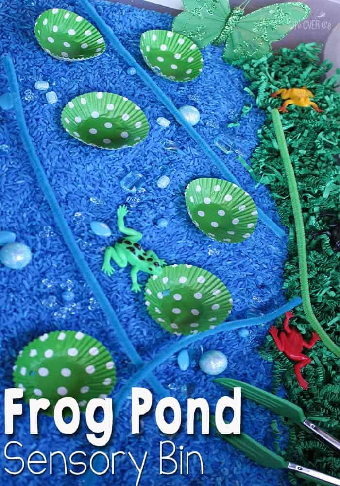 Frog Pond Habitat Sensory Bin