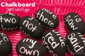 These sight word eggs can be made to fit the words you need to review right now!