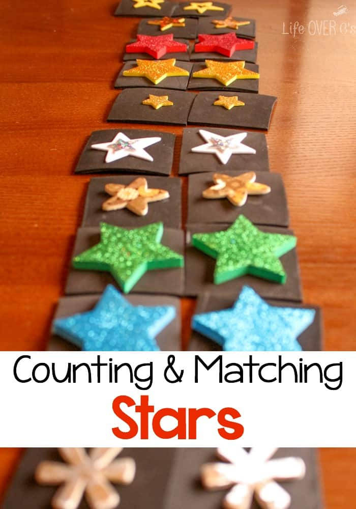 Counting & Matching Star Activities for Preschoolers