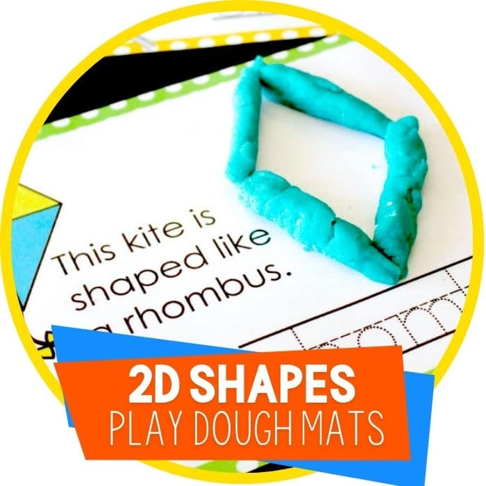 2d shapes play dough mats Featured Image