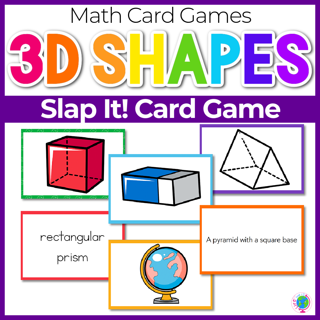 3D Solid Shapes Slap It Card Game