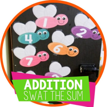 Addition Facts within 10 Swat the Sum Featured Image