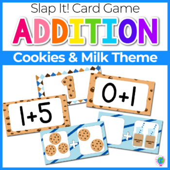 Addition Slap It Card Game Cookies and Milk