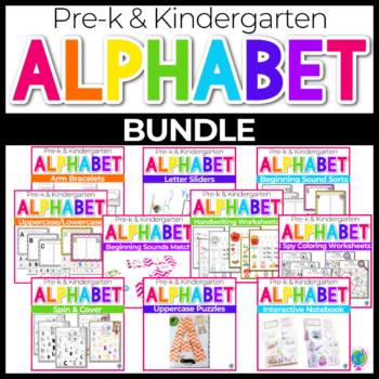 Alphabet activities bundle for preschool and kindergarten