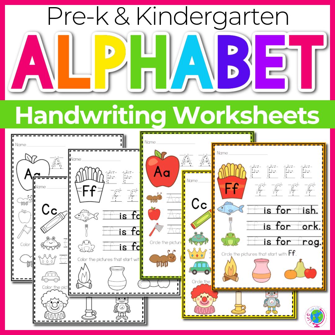 Alphabet Handwriting Printables & Centers