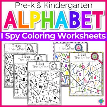 Alphabet Activities I Spy Coloring