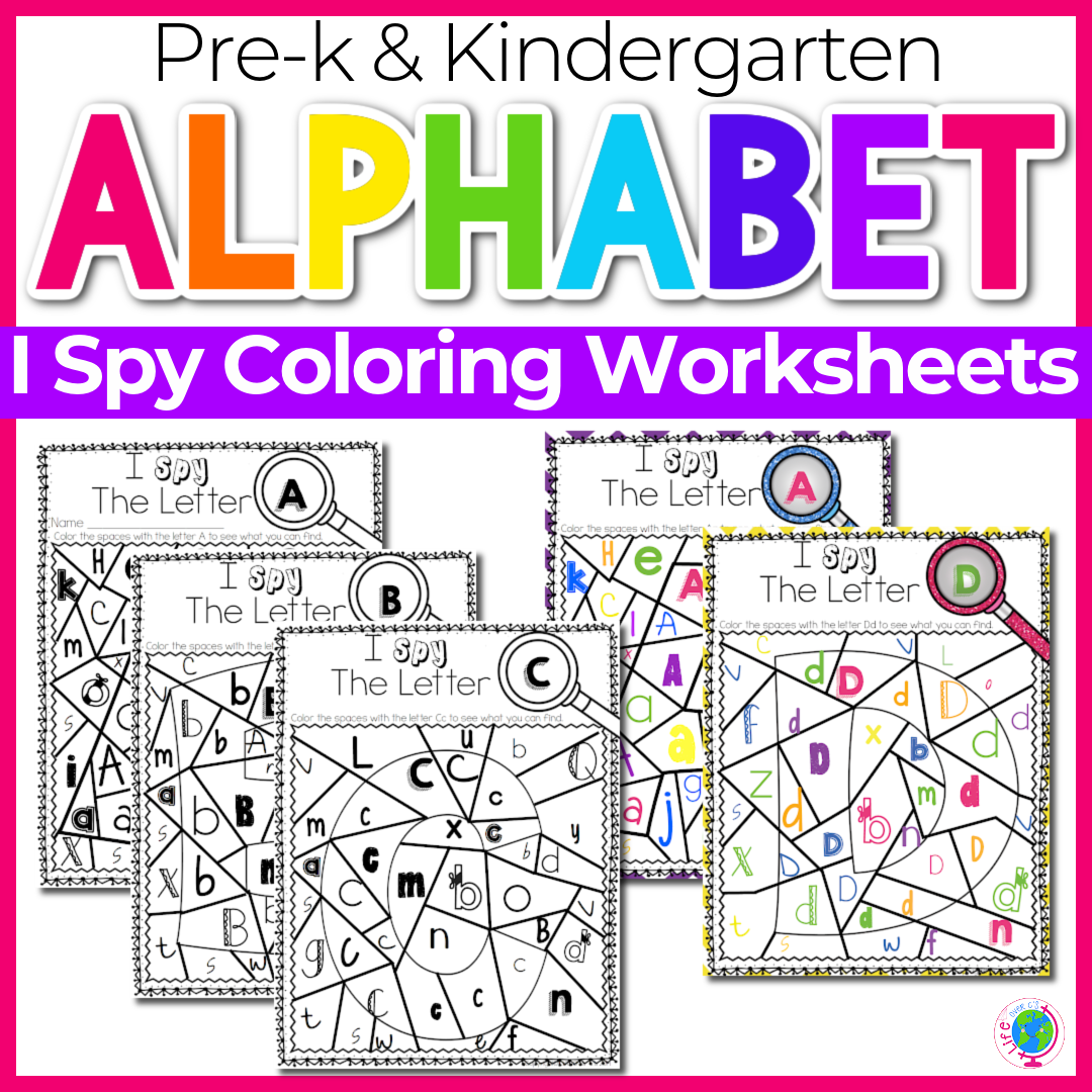 Alphabet I Spy No-Prep Printables & Centers