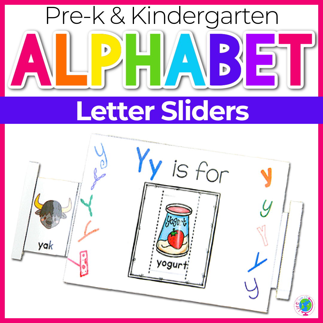 Alphabet Sliders: Printables and Centers
