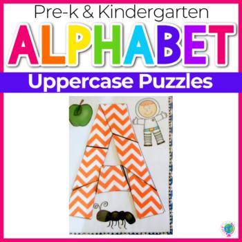 Alphabet Activities Uppercase Puzzles