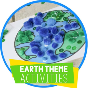 Building Language Skills for Preschoolers Earth Theme Featured Image