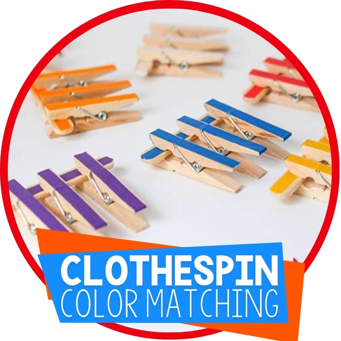 Color Matching Busy Bag with Clothespins
