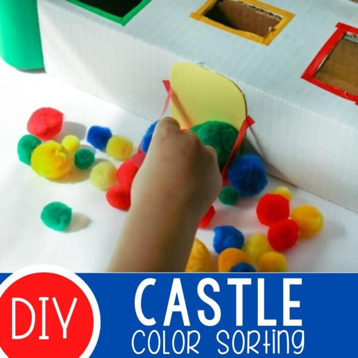 Color Sorting Castle for Preschoolers Featured Square Image