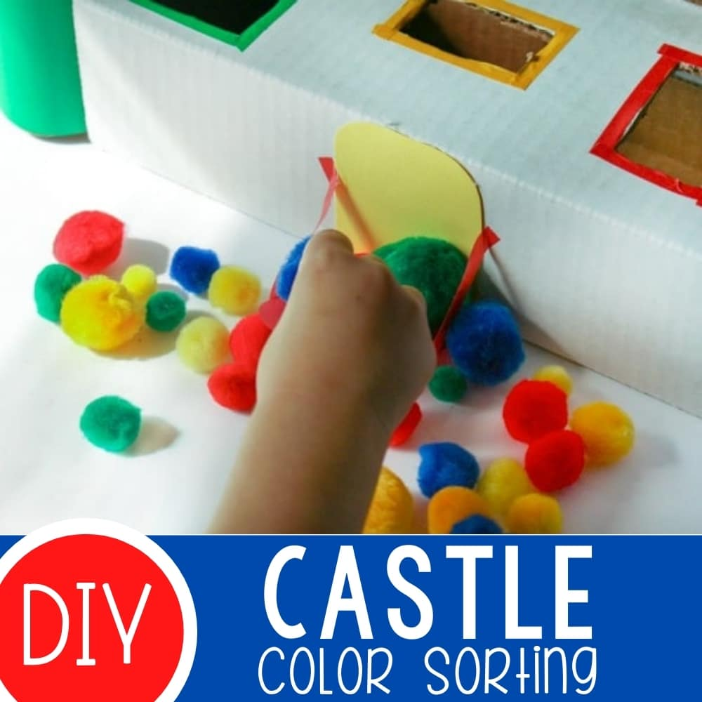 Color Sorting Castle for Preschoolers