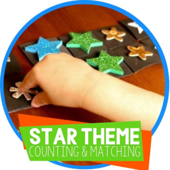 Counting & Matching Star Activities for Preschoolers Featured Image