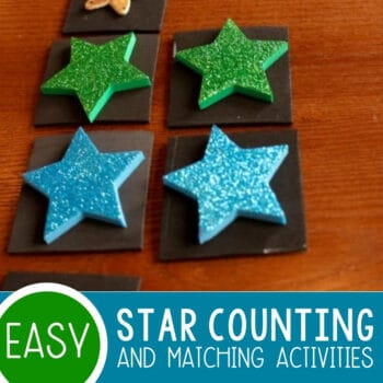 Counting & Matching Star Activities for Preschoolers Featured Square Image