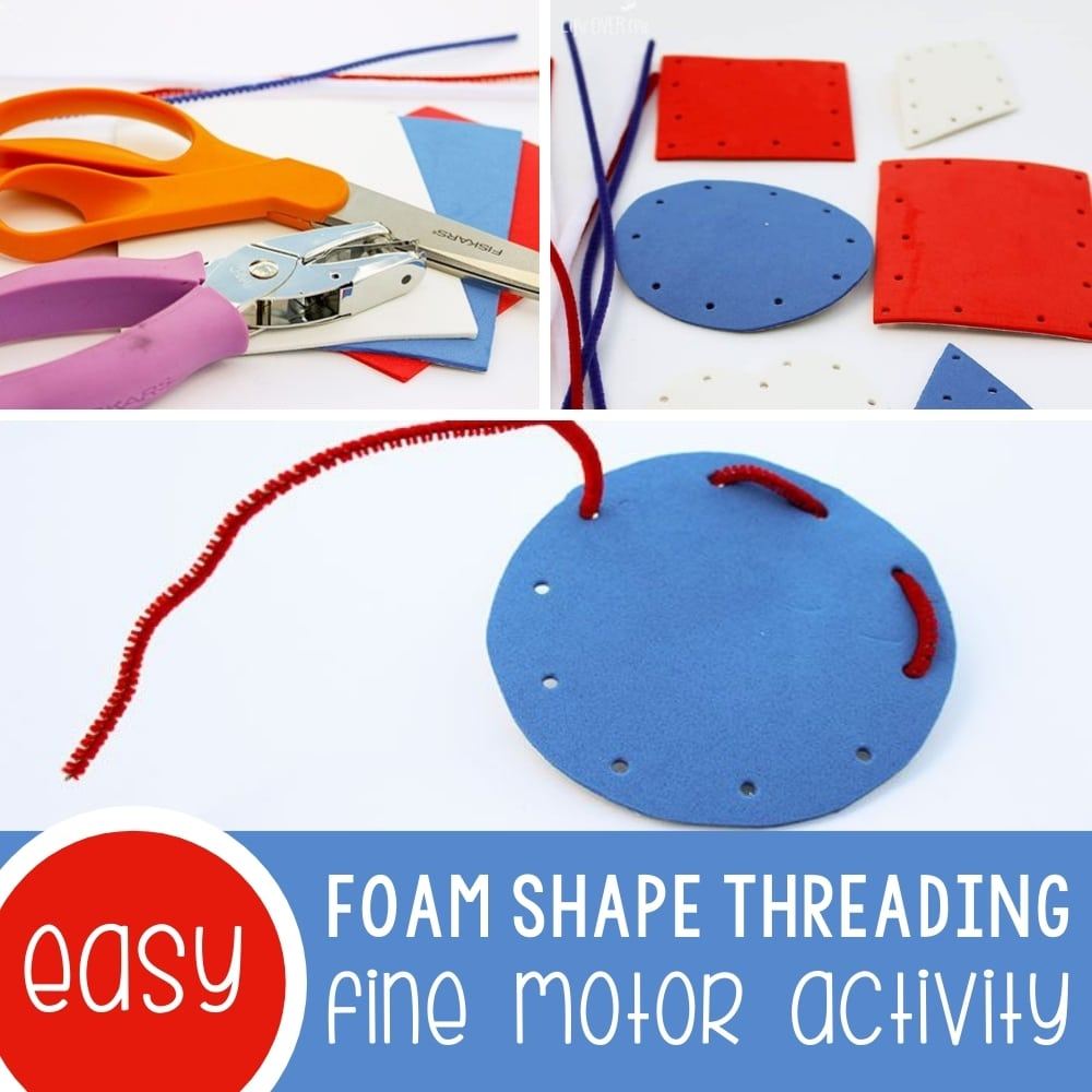 Create Fine-Motor Shapes from Craft Foam