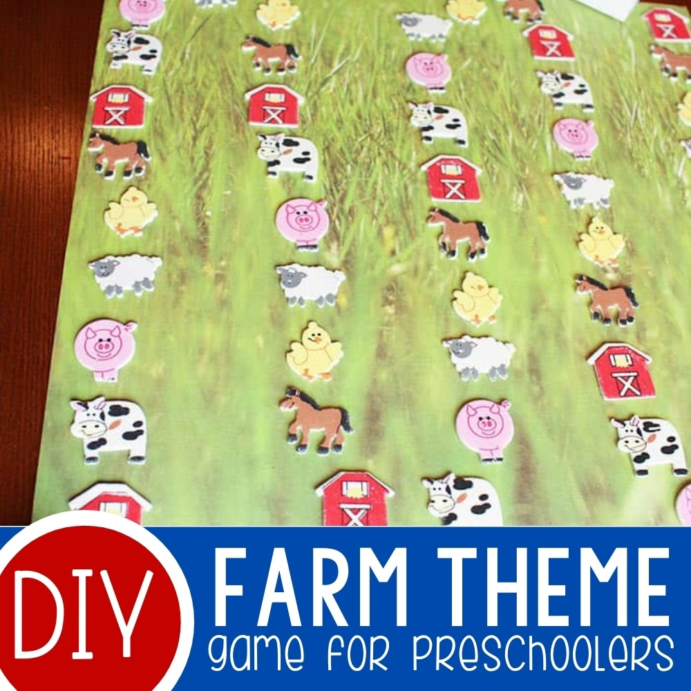 DIY Farm Animal Game with Free Printable
