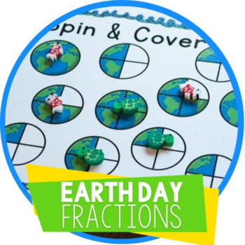 Earth Day Equivalent Fractions Free Printable Featured Image