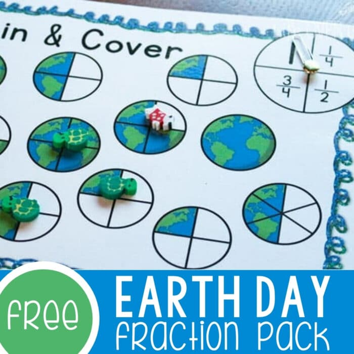 Earth Day Equivalent Fractions Free Printable Featured Square Image