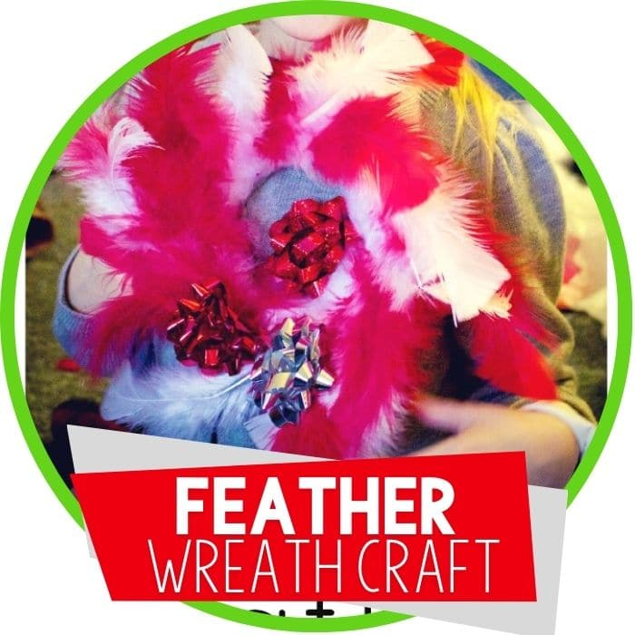 Feather Craft for Preschoolers- Create a Wreath
