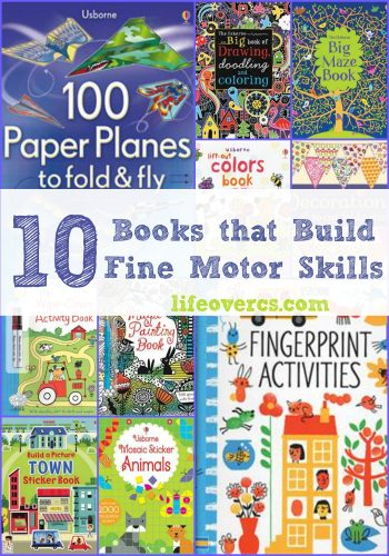 These books are great for working on fine motor skills.
