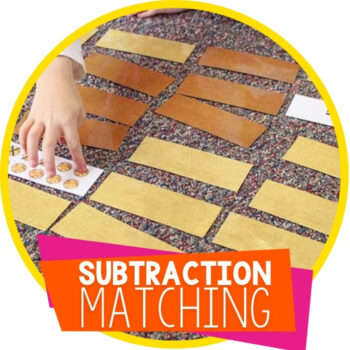 Gold Rock Manipulatives for Math and a Free Subtraction Matching Game Featured Image