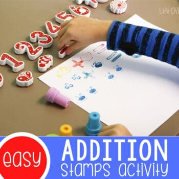 Hands-On Addition Activity with Stamps Featured Square Image