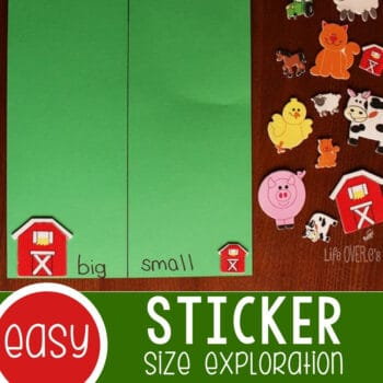 Learning About Size with Stickers Featured Square Image