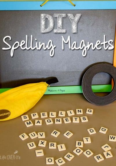 A simple way to make your own magnetic alphabet tiles that can be used in the classroom or at home to teach kids with. This helps make learning fun!