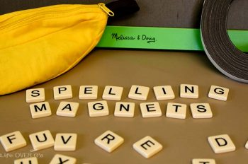 Make these DIY spelling magnets to turn your spelling words into fun!