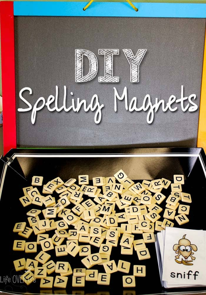 Make these DIY spelling magnets to turn your spelling words into fun! Plus, a free printable for blends.